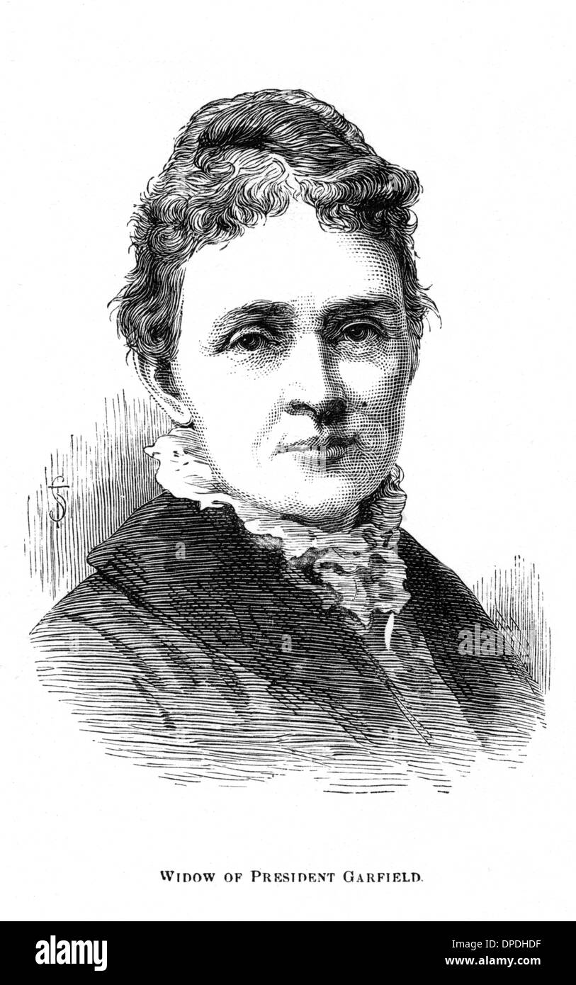 ABRAM GARFIELD'S WIDOW - Stock Image