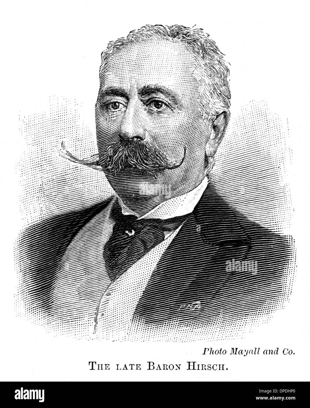 MORITZ BARON HIRSCH - Stock Image