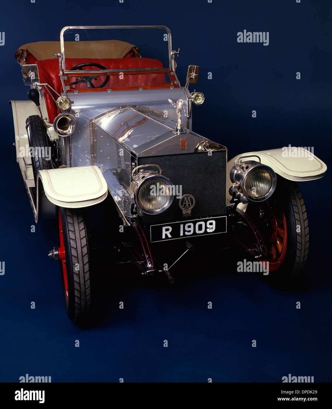 1909 Rolls Royce Silver Ghost - Stock Image