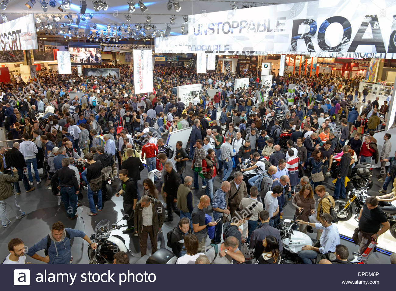 eicma,Exibition bicycle and motorcycle,Milan 2013 - Stock Image