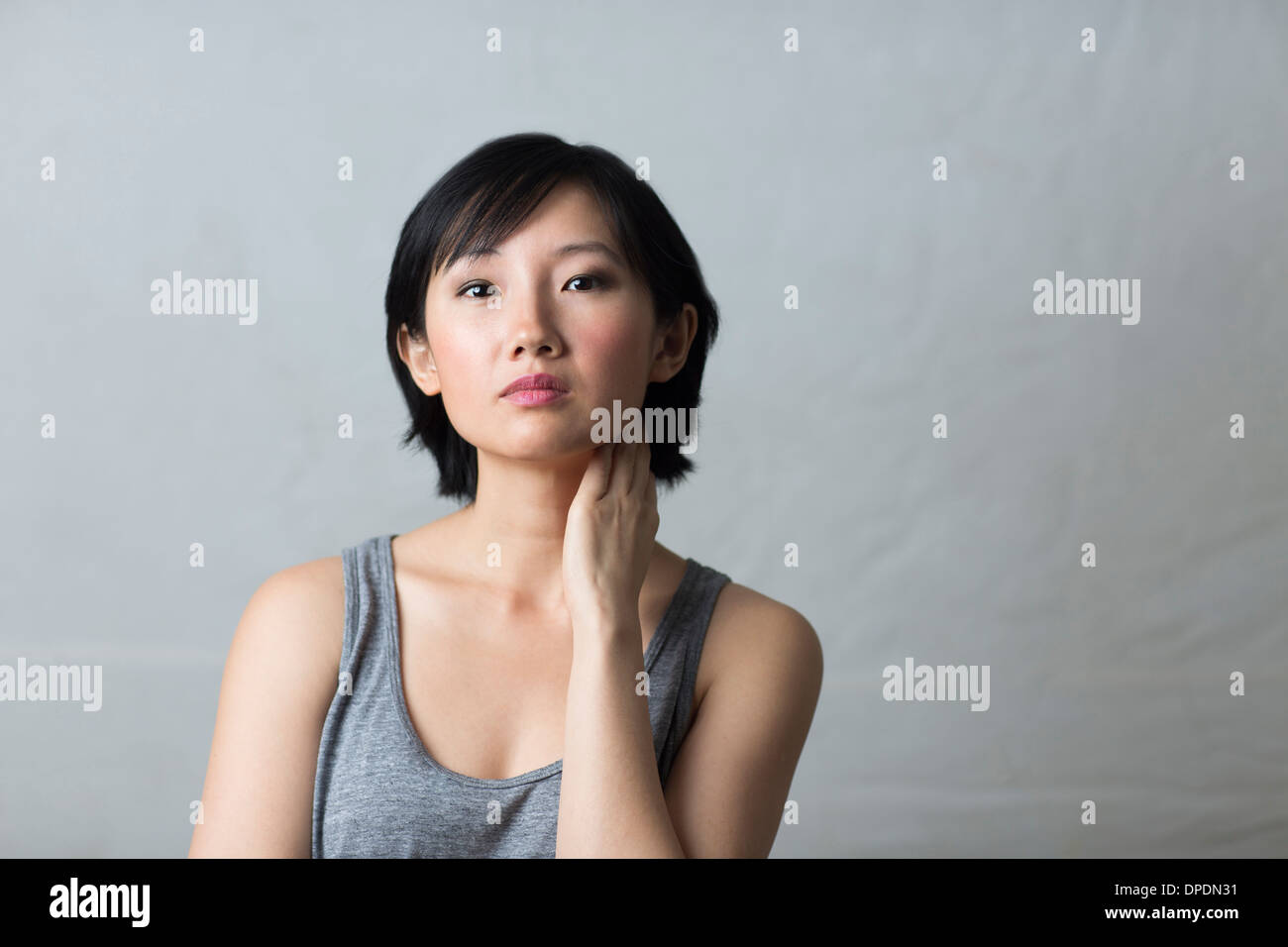 aloof woman attractive