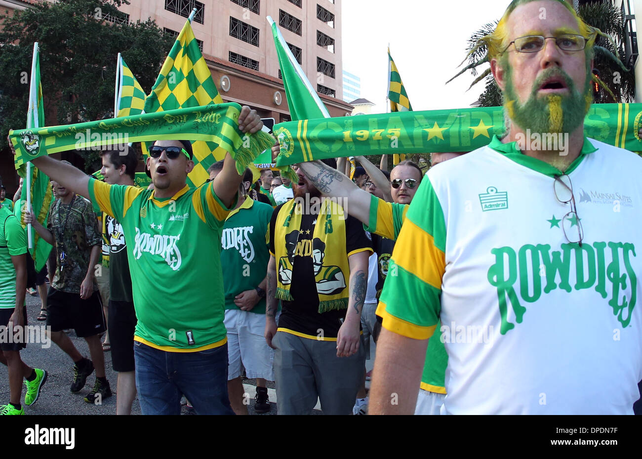 tampa bay rowdies supporters head to the al lang stadium st stock photo alamy https www alamy com tampa bay rowdies supporters head to the al lang stadium st petersburg image65455587 html