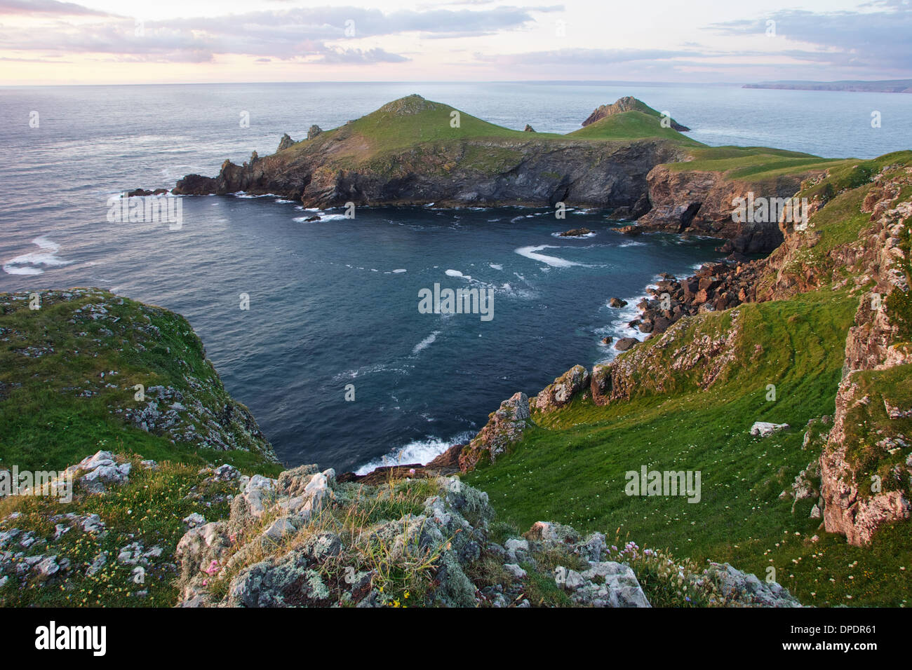 Sunset at The Rumps, North Cornwall - Stock Image
