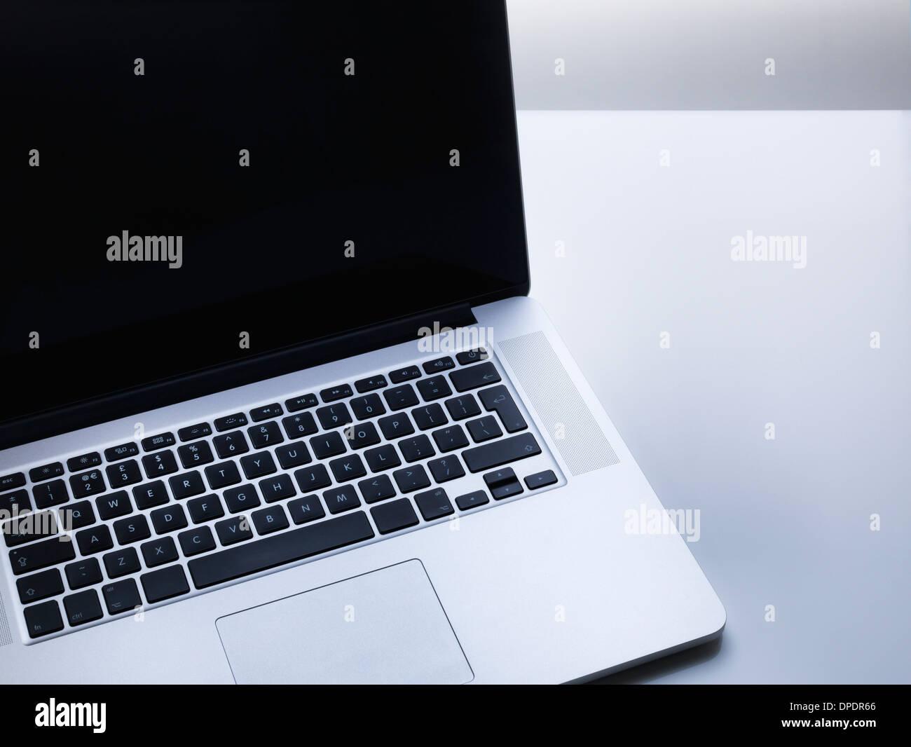 Laptop Computer on desk - Stock Image