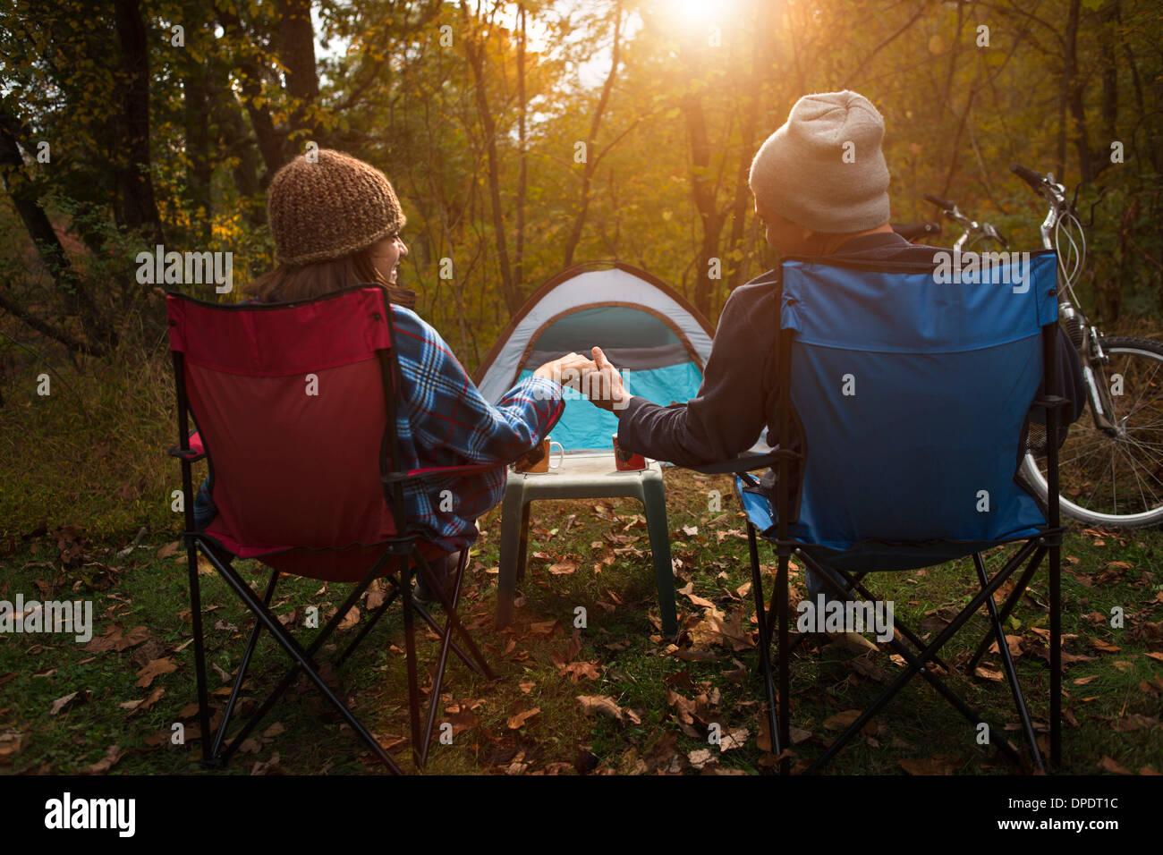 Matures Having Fun Camping