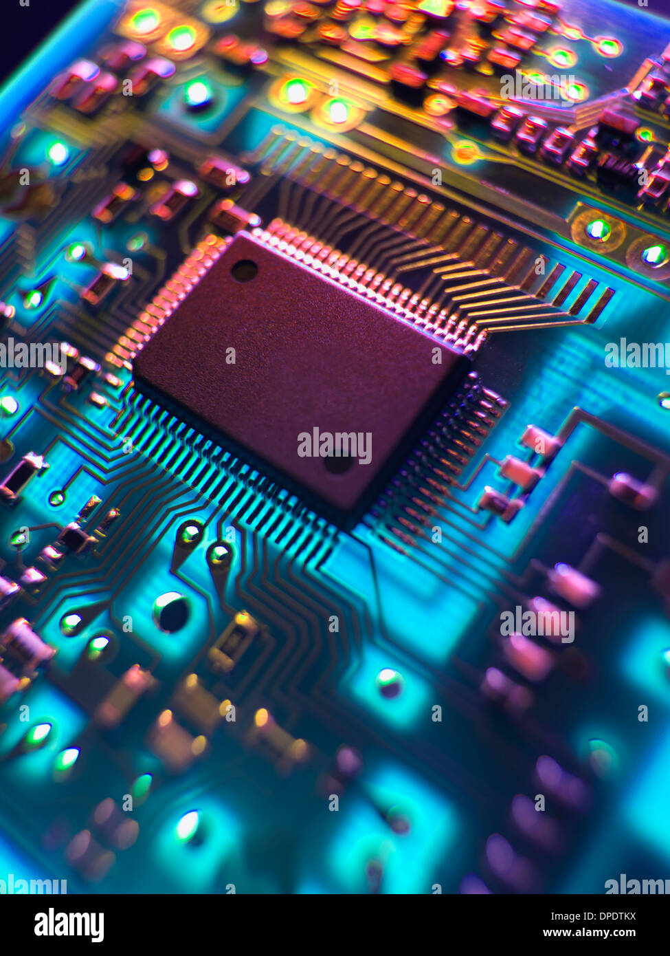 Printed Circuit Board. The central processing unit interprets and ...