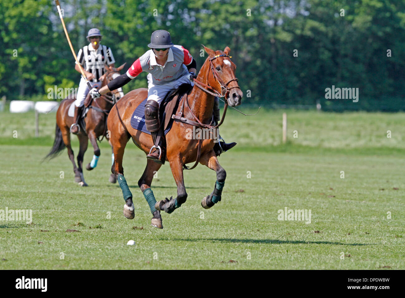 Polo players fight on the ball, Bucherer High Goal Polo Cup, - Stock Image