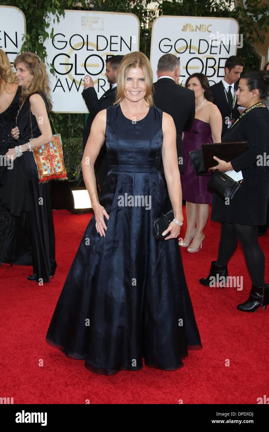 Los Angeles, USA. 11th Jan, 2014. US actress Mariel Hemingway attends the 71st Annual Golden Globe Awards aka Golden Stock Photo