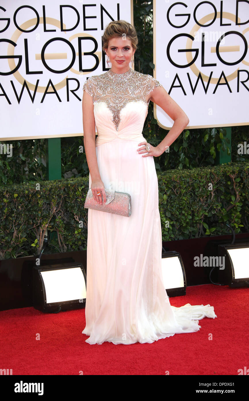 Los Angeles, USA. 11th Jan, 2014. Actress Carly Steel attends the 71st Annual Golden Globe Awards aka Golden Globes Stock Photo