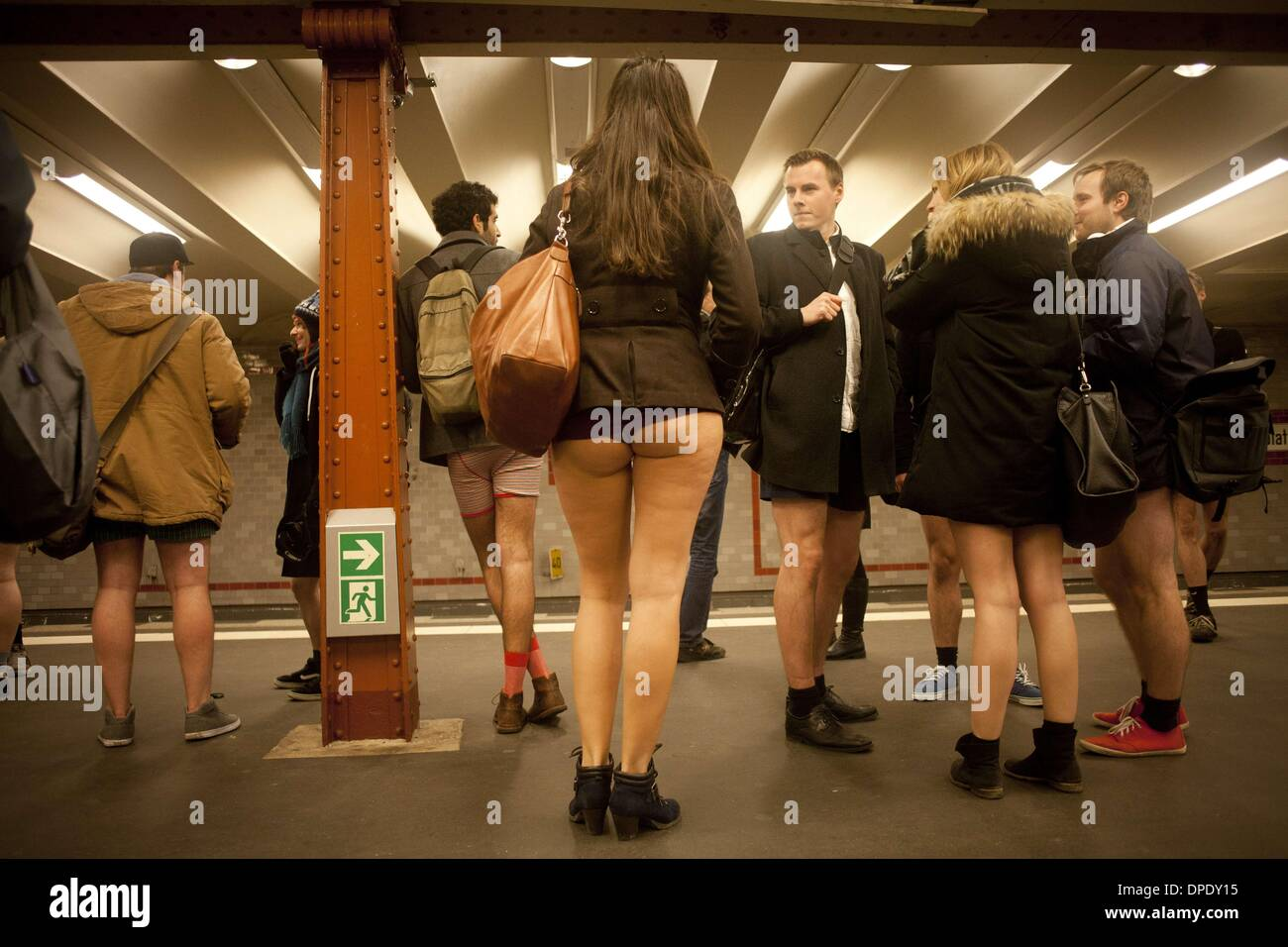 Upskirt on subway in stockholm - 3 2