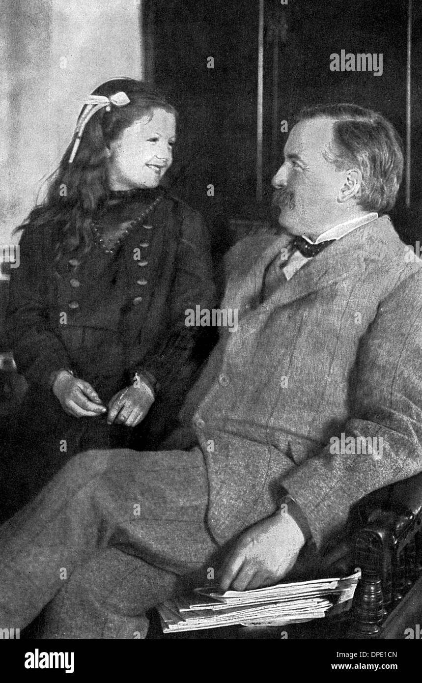 LLOYD GEORGE AND MEGAN - Stock Image