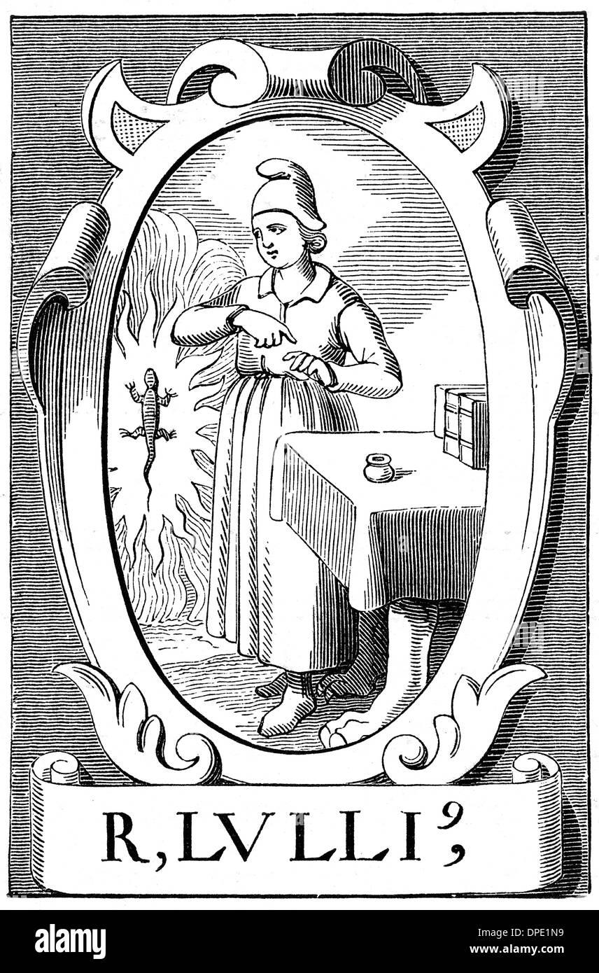 RAMON LLULL, ALCHEMIST - Stock Image