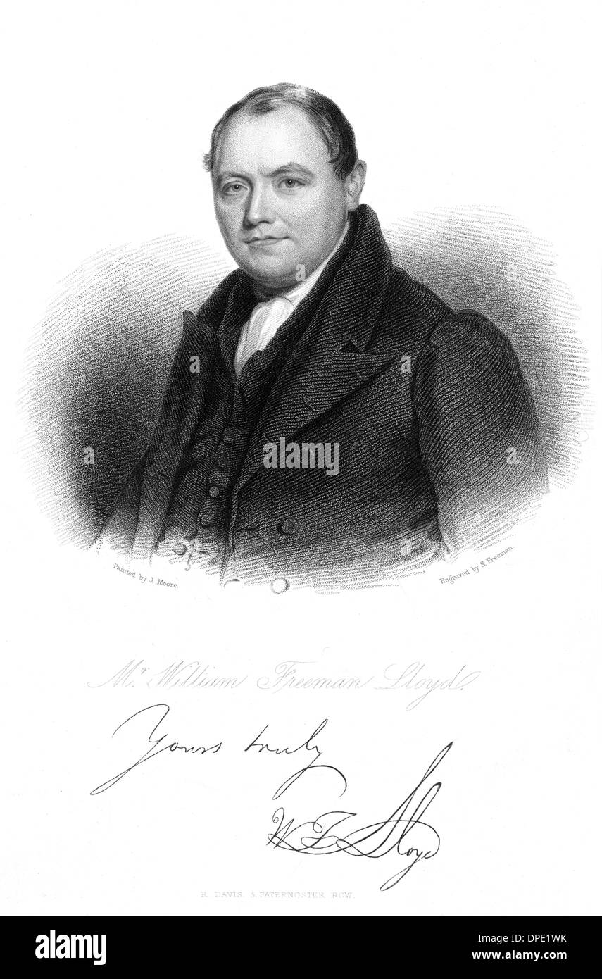 WILLIAM FREEMAN LLOYD - Stock Image
