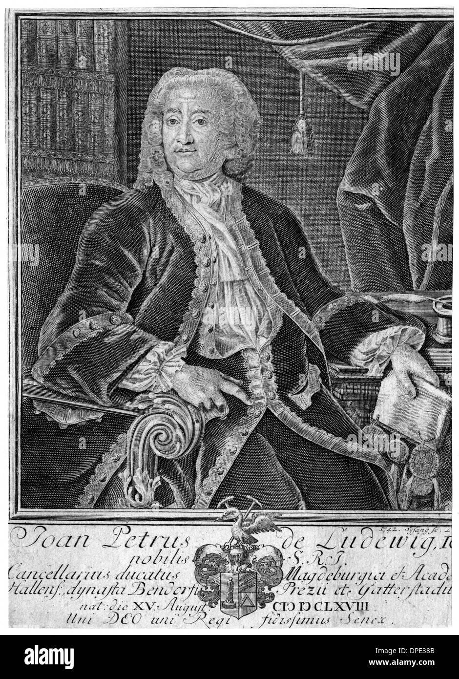 JOHANN PETER LUDWIG 2 - Stock Image