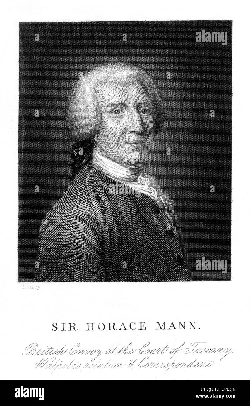 SIR HORACE MANN - Stock Image