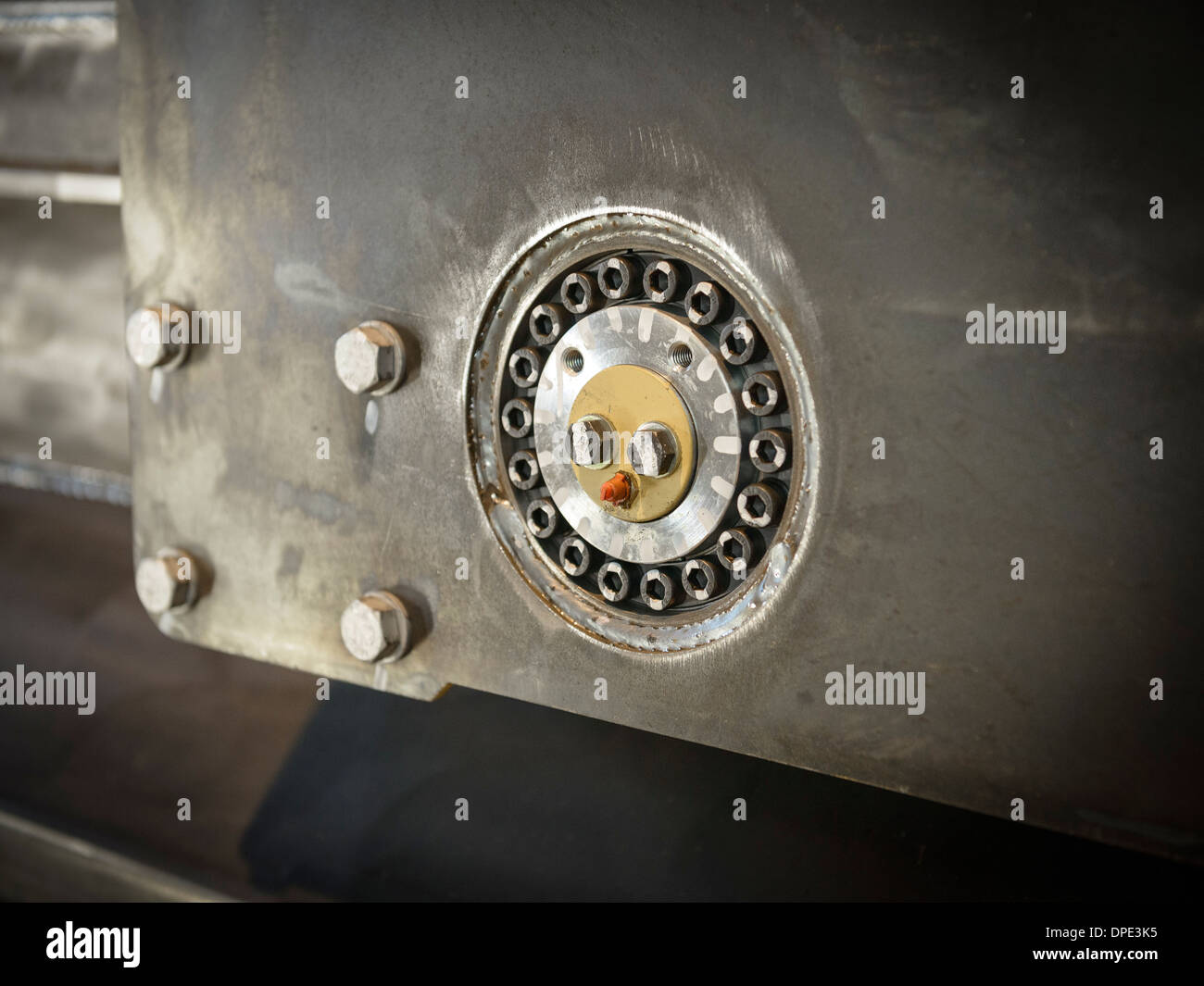 Close up of engineering detail in factory - Stock Image