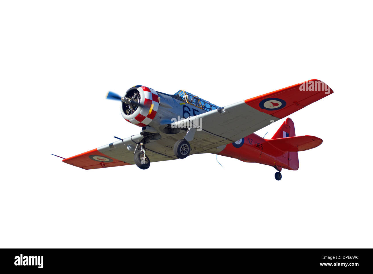 Cutout of North American Harvard, or T-6 Texan, or SNJ - Stock Image