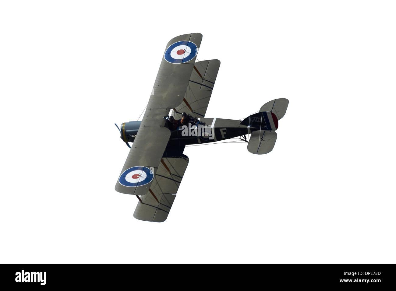Cutout of British Bristol F.2B Fighter - Stock Image