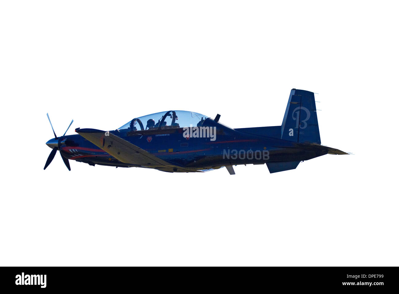 Cutout of Hawker Beechcraft T-6C Texan II - Stock Image
