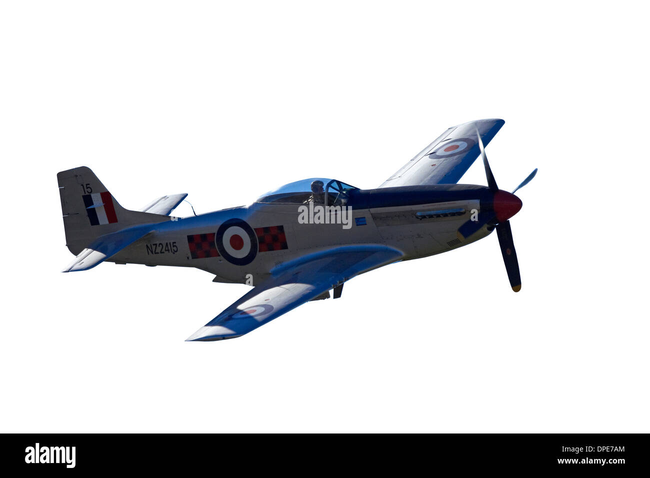 Cutout of P-51 Mustang - American Fighter Plane - Stock Image