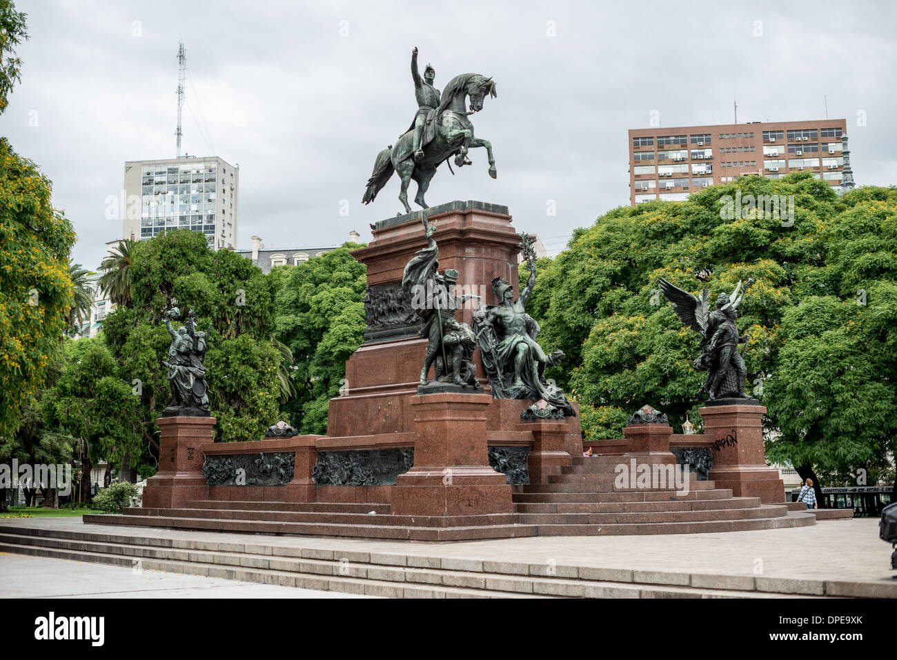 BUENOS AIRES, Argentina - Jose de San Martín Statue in Plaza San Martin in downtown Buenos Aires Argentina. - Stock Image