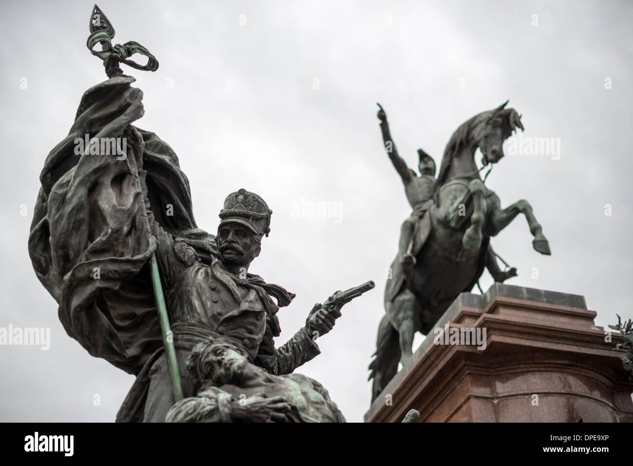 BUENOS AIRES, Argentina - Statue of Jose de San Martín in Plaza San Martin in Buenos Aires Argentina. - Stock Image