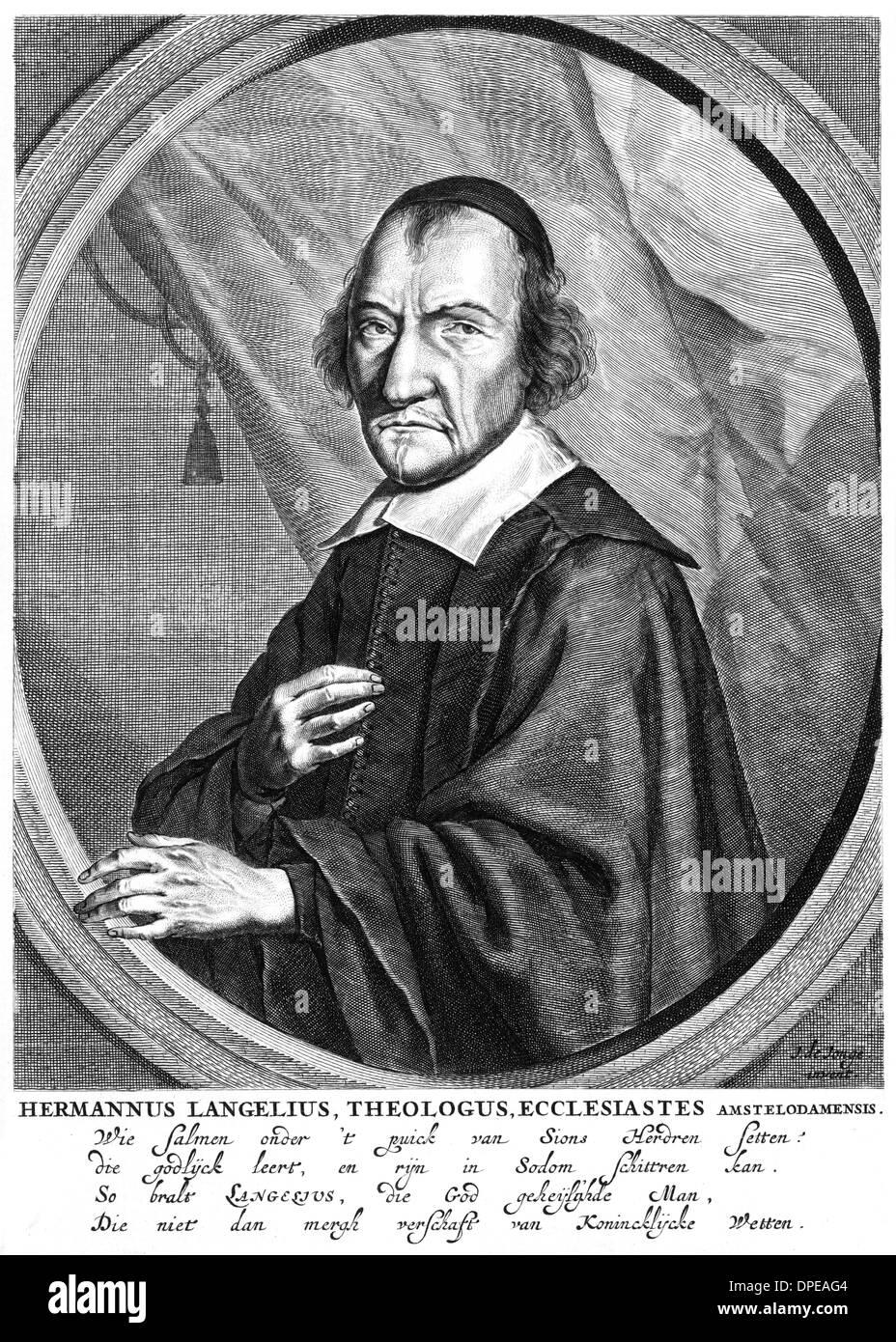 HERMANN LANGELIUS - Stock Image