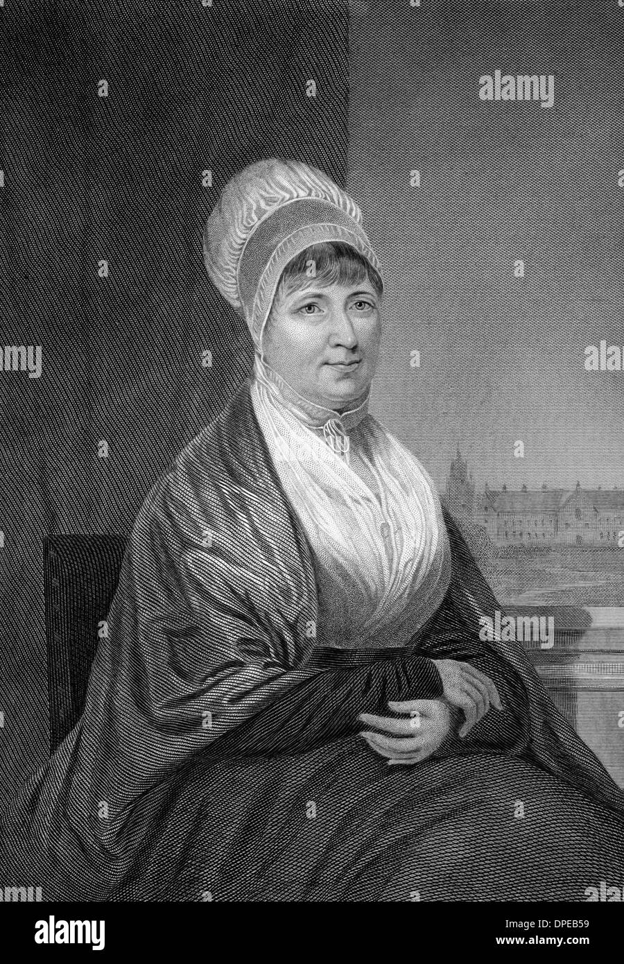 Elizabeth Fry (1780-1845) on engraving from 1873. English prison reformer, social reformer and Christian philanthropist. Stock Photo