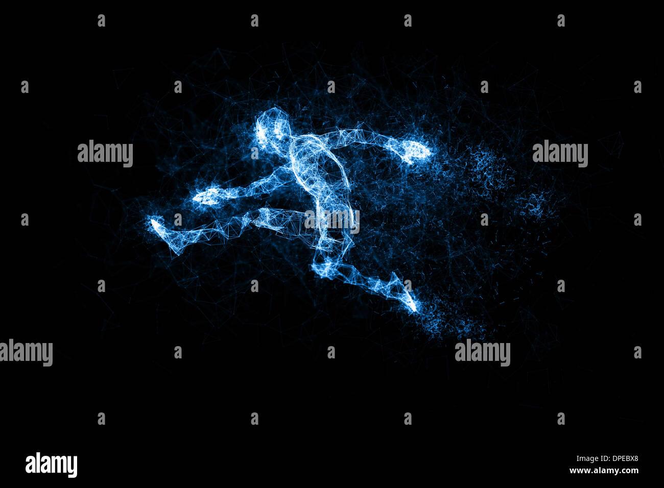 Digital geometric figures Stock Photo