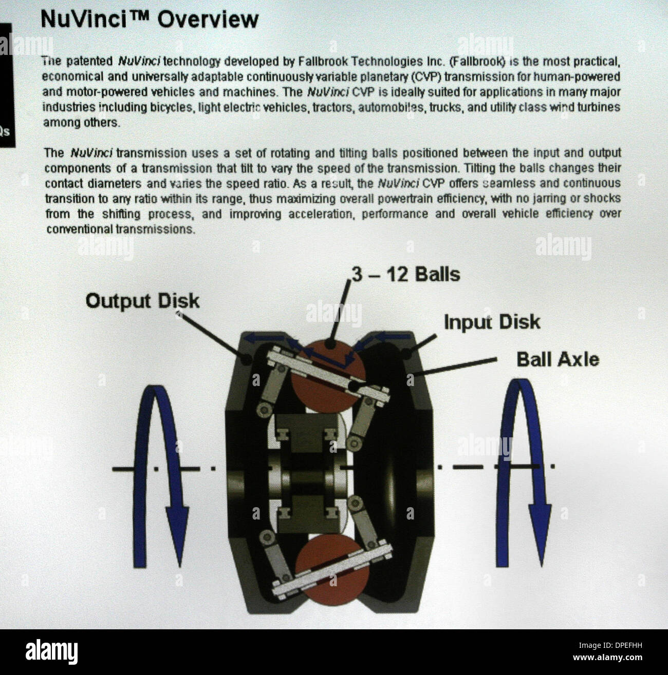 (Published 5/14/2006, H-1) April 28th,2006 .San Diego, California,GARY The schematics for the variable transmission from Fallbrook Technologies in Sorrento Valley. Mandatory Credit: Photo by Don Kohlbauer/San DIego Union Tribune/Zuma Press. copyright 2006 San Diego Union Tribune. - Stock Image