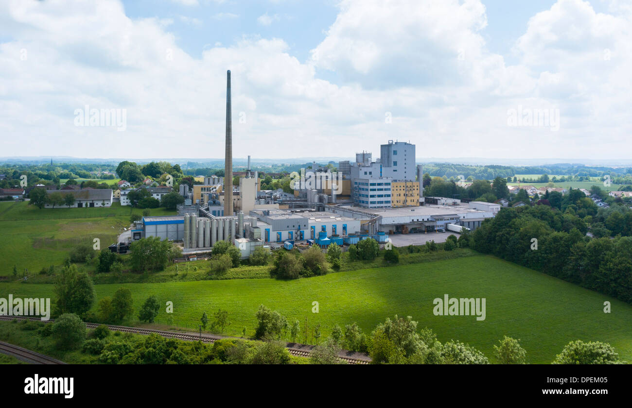View of industrial plant, Wasserberg, Bavaria, Germany - Stock Image