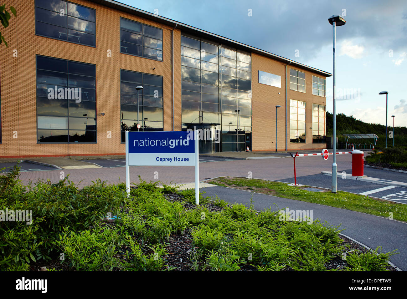 National Grid Osprey House building East Midlands Airport - Stock Image