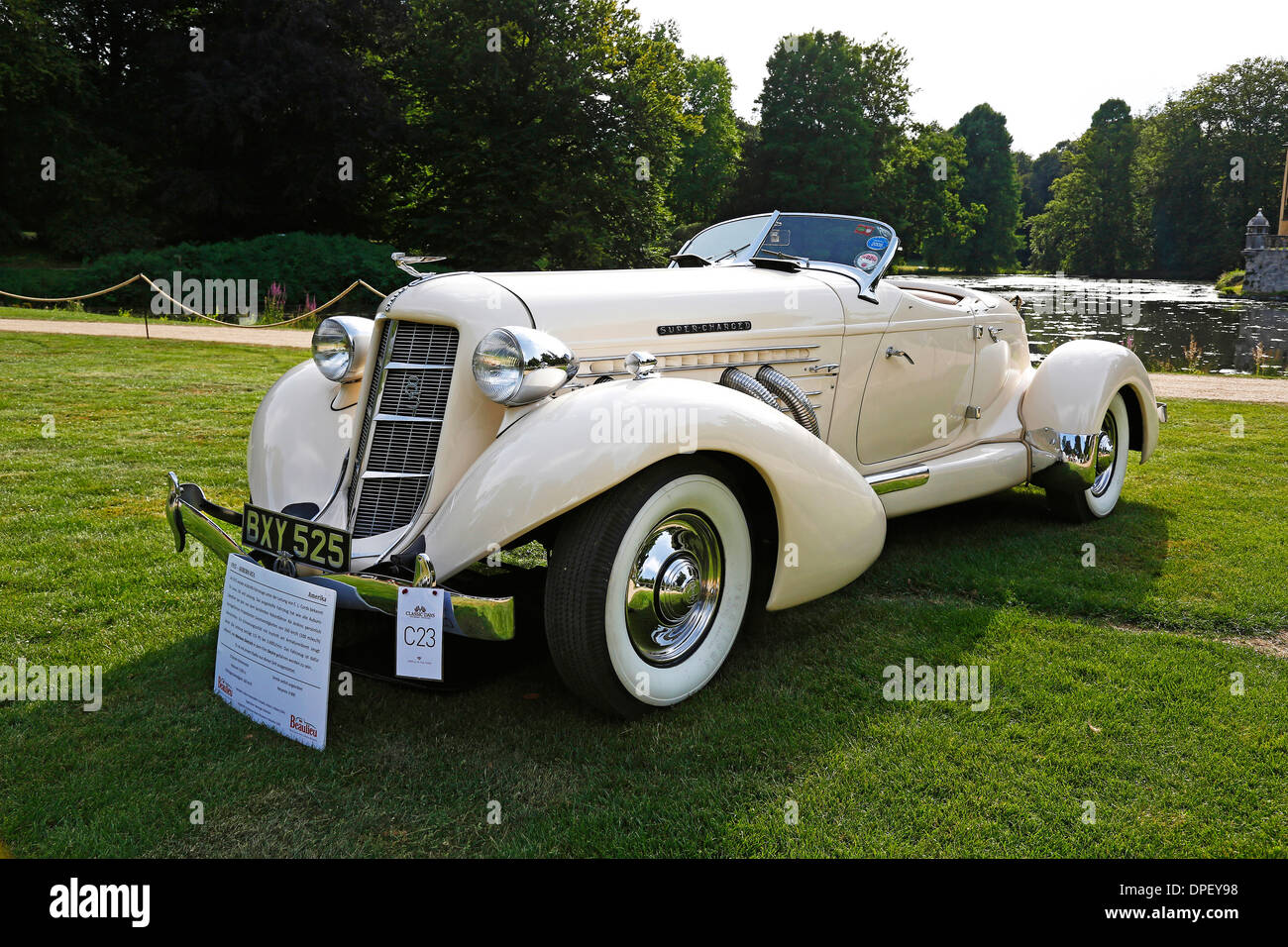 Classic car, Auburn 851, built in 1935, vintage car meet, Schloss Dyck Classic Days 2013, Schloss Dyck Castle, Jüchen - Stock Image