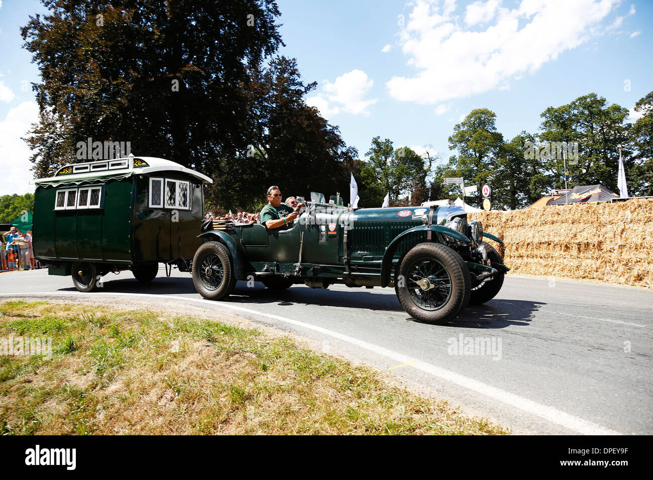 Classic car, Bentley 4.5 Litre Blower with a camping trailer, built ...