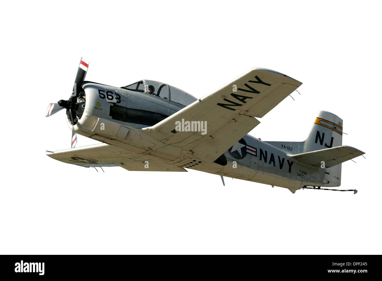 Cutout of North American T-28 Trojan Military Trainer - Stock Image