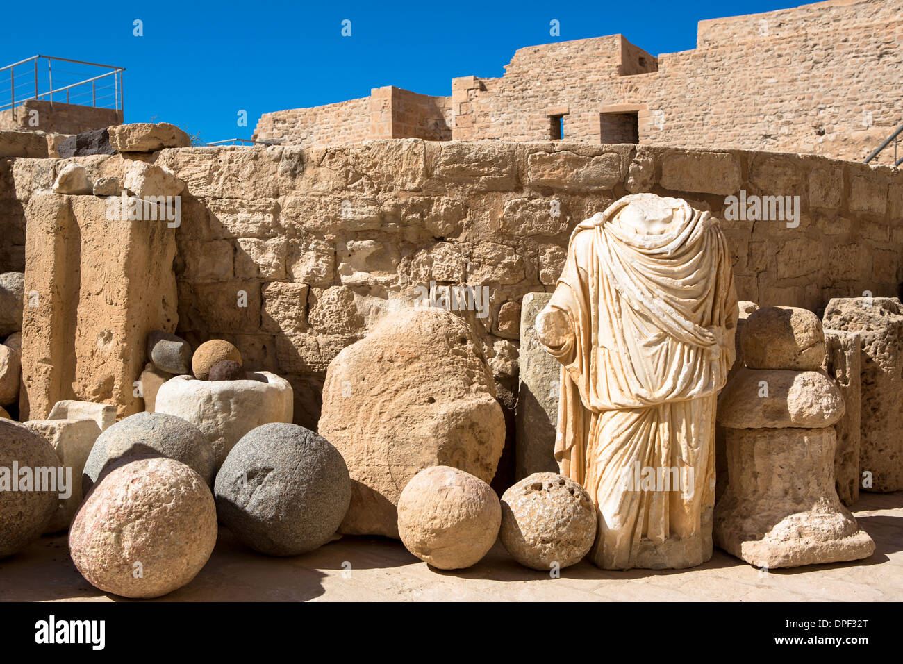 Artifacts at old fort, Djerba, Tunisia - Stock Image