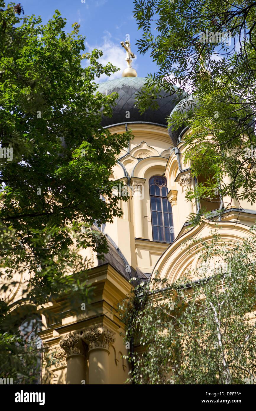 Russian orthodox church, Praga district, Warsaw, Poland - Stock Image