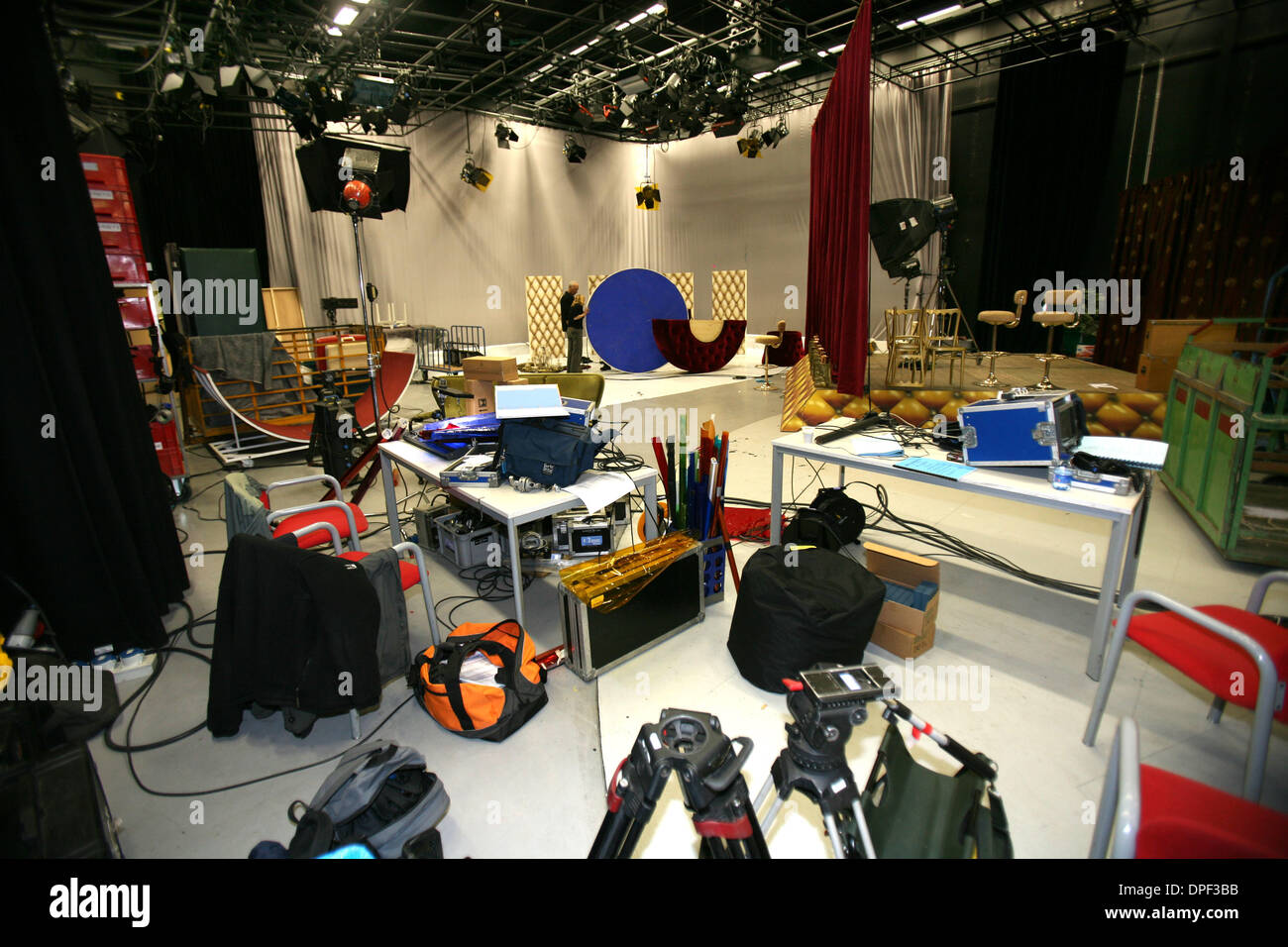 Attributes for building a set for the Television programs and films in the Netherlands - Stock Image