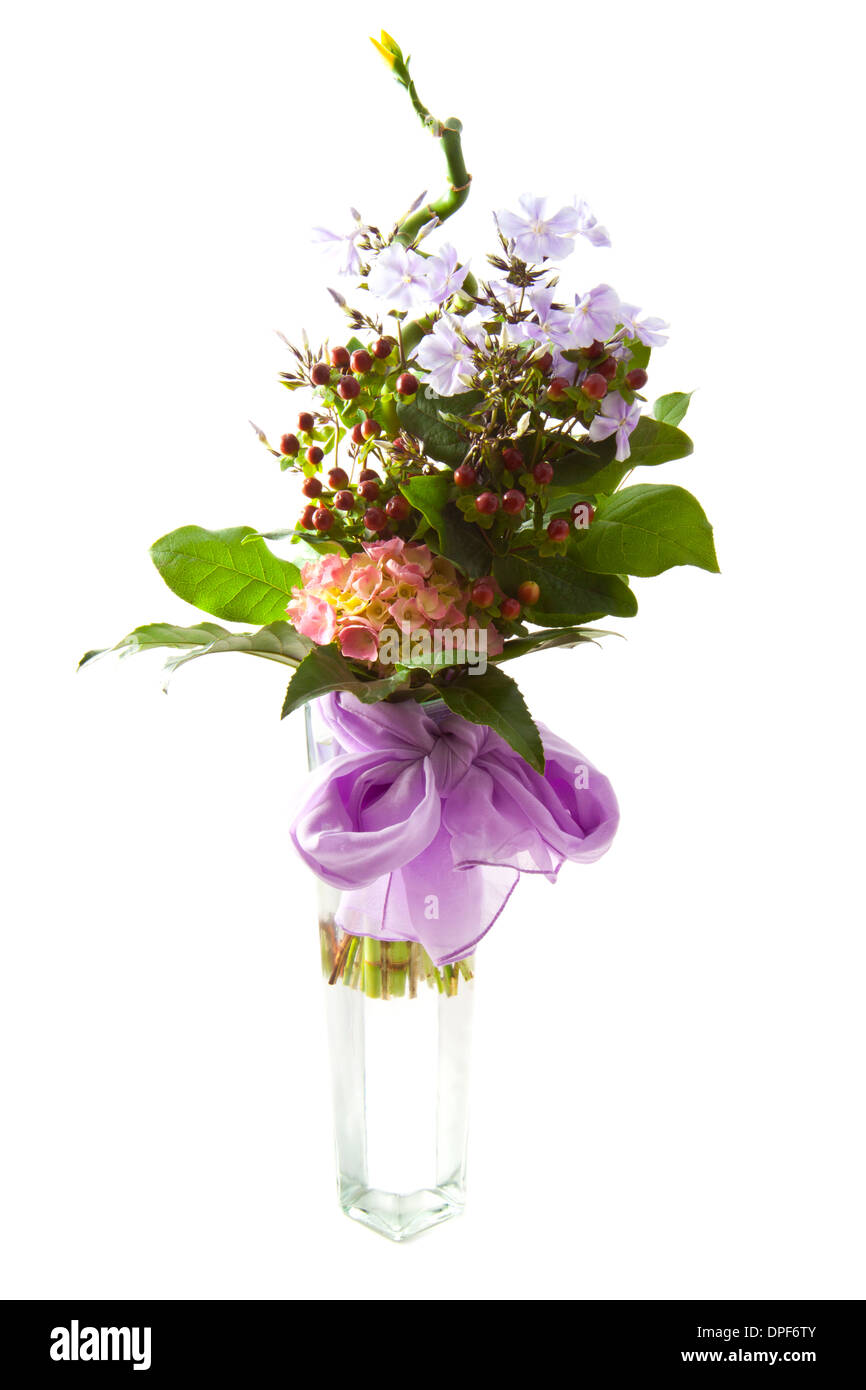 Bouquet with different kind of flowers in a vase isolated over white bouquet with different kind of flowers in a vase isolated over white mightylinksfo