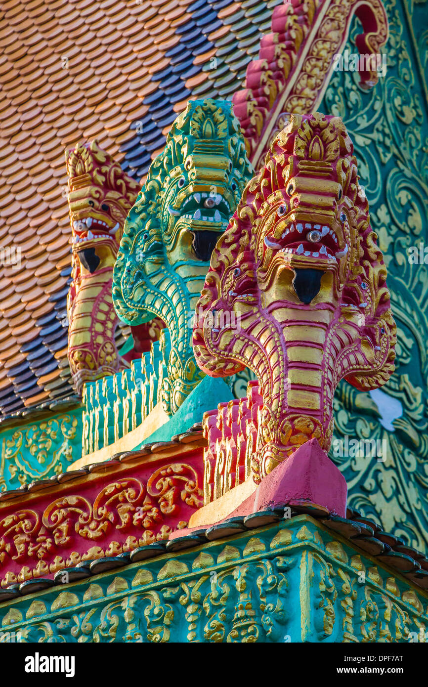 The hilltop temple of Wat (Phnom) Hanchey, on the Mekong River, Kampong Cham Province, Cambodia, Indochina, Southeast Stock Photo