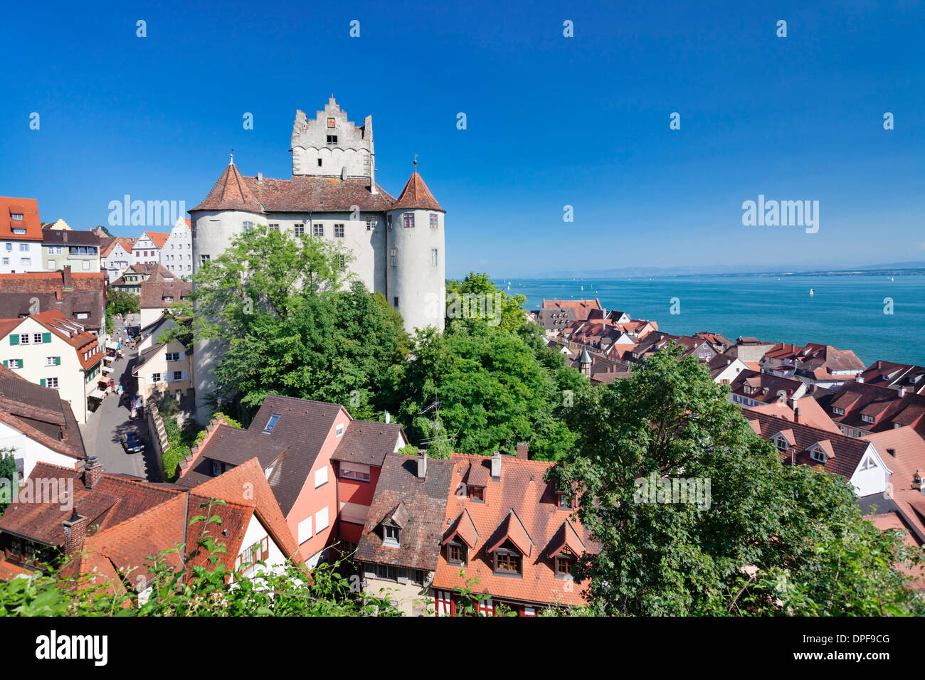 Old Castle, Meersburg, Lake Constance (Bodensee), Baden Wurttemberg, Germany, Europe Stock Photo