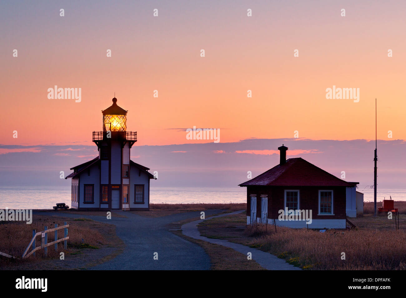 Point Cabrillo Lighthouse, Mendocino County, California, United States of America, North America - Stock Image