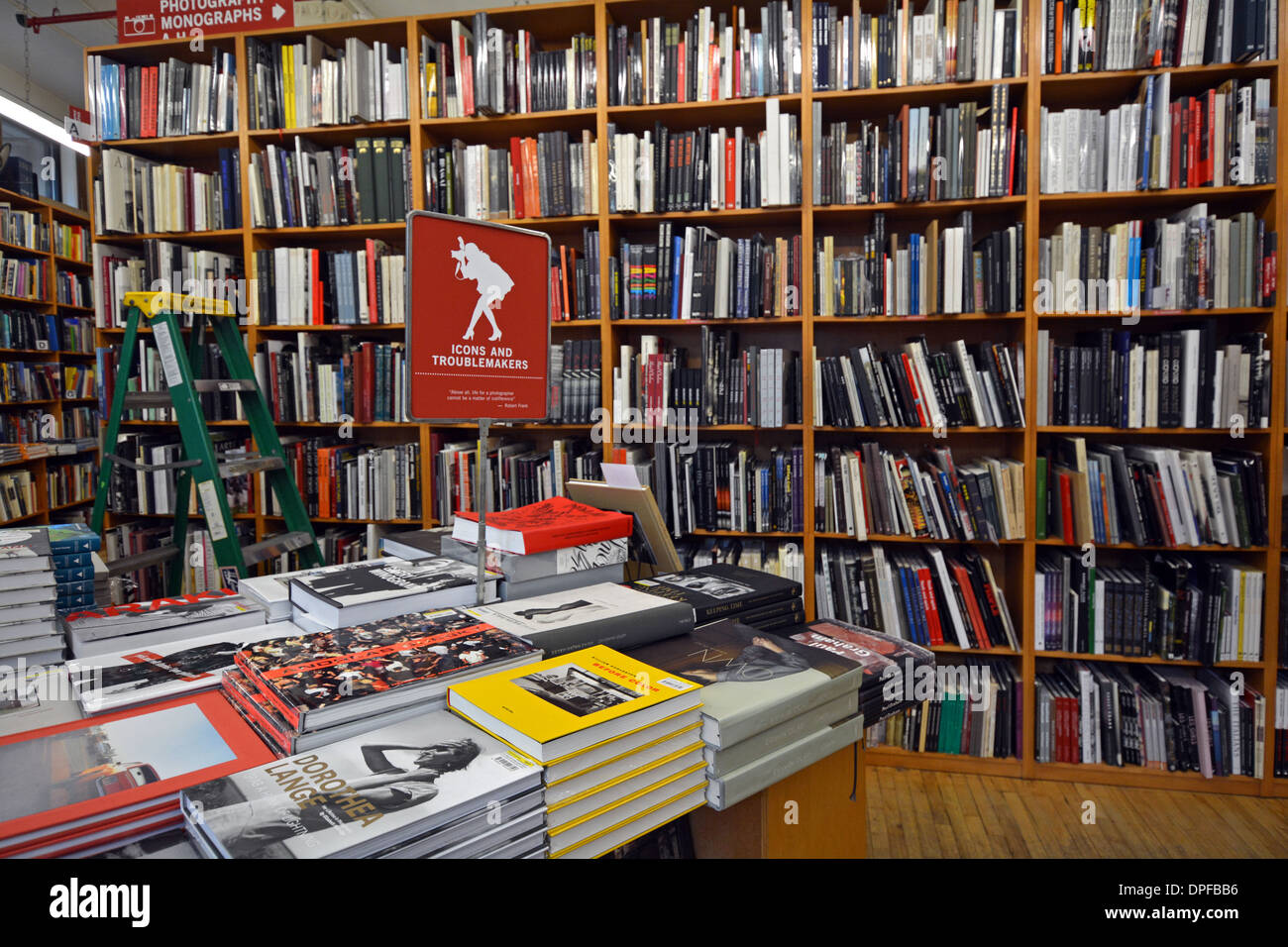 The photography section of the Strand Bookstore on Broadway and East 12th Street in Greenwich Village, New York - Stock Image