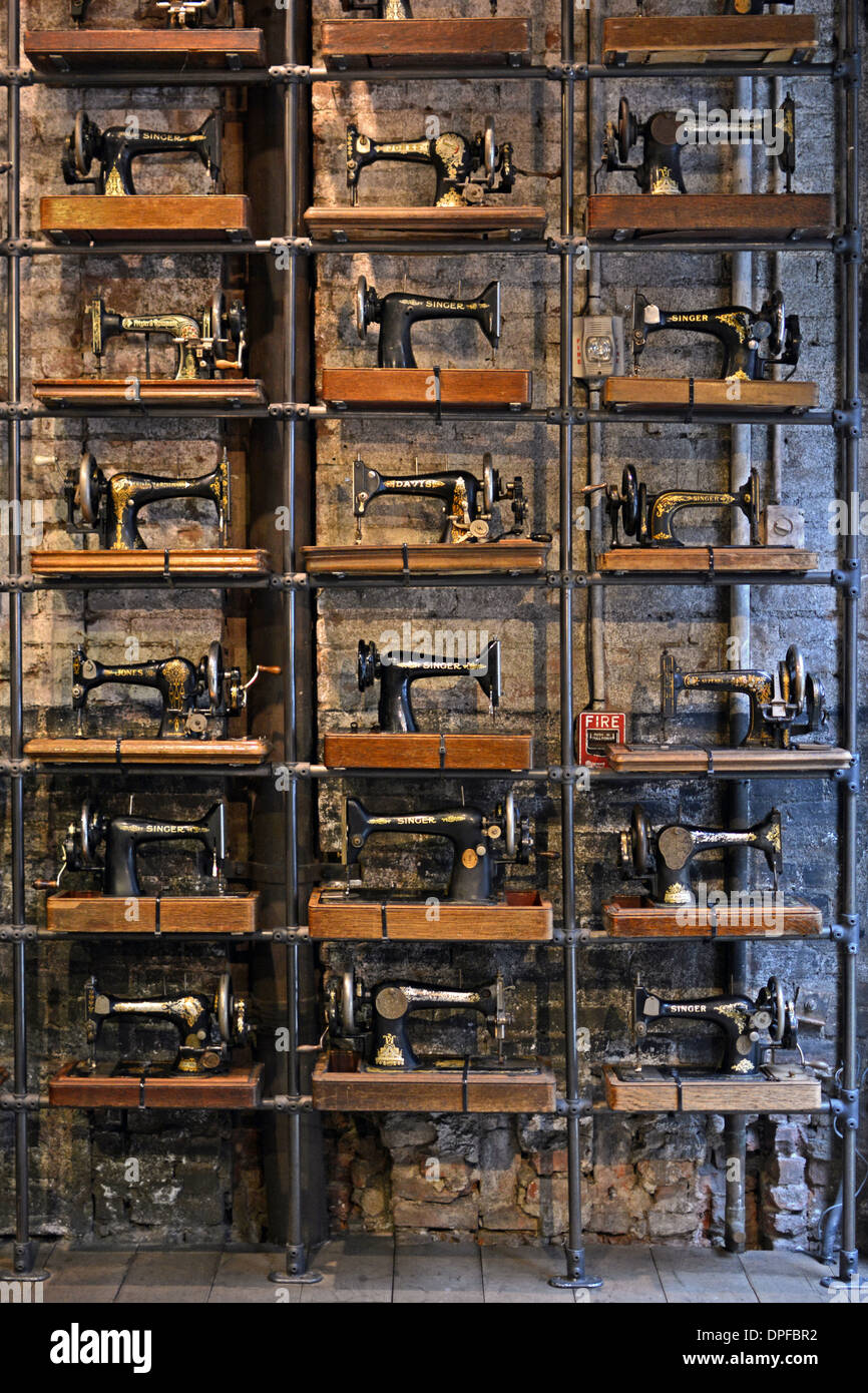 A Display Of Vintage Singer Sewing Machines At All Saints