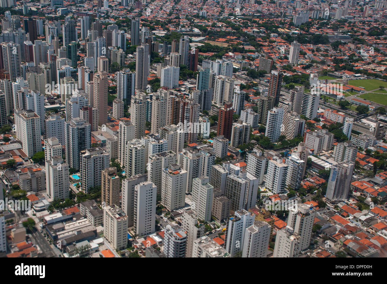 Aerial of Sao Paulo, Brazil, South America - Stock Image