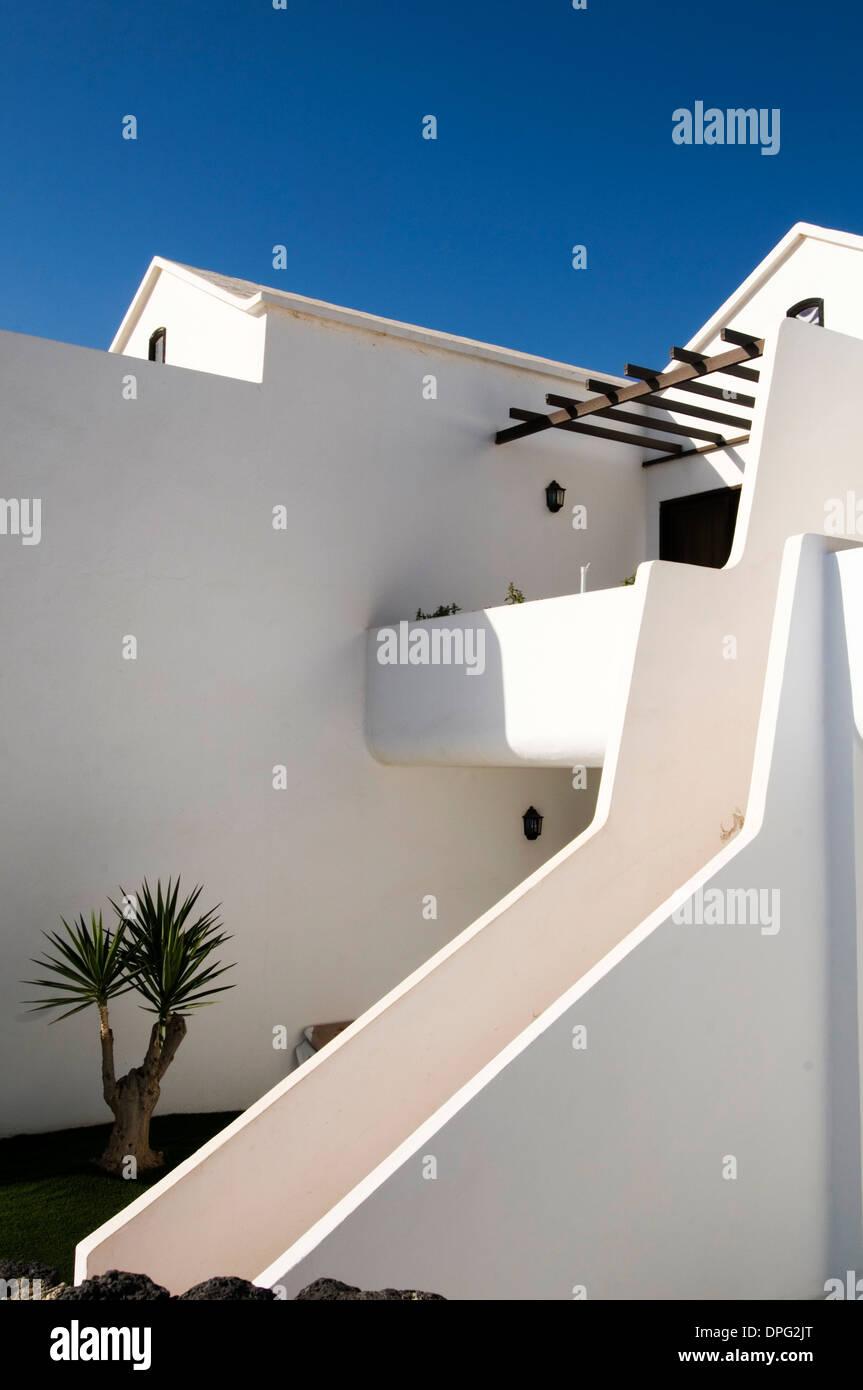 holiday villa villas holiday property properties abroad overseas - Stock Image