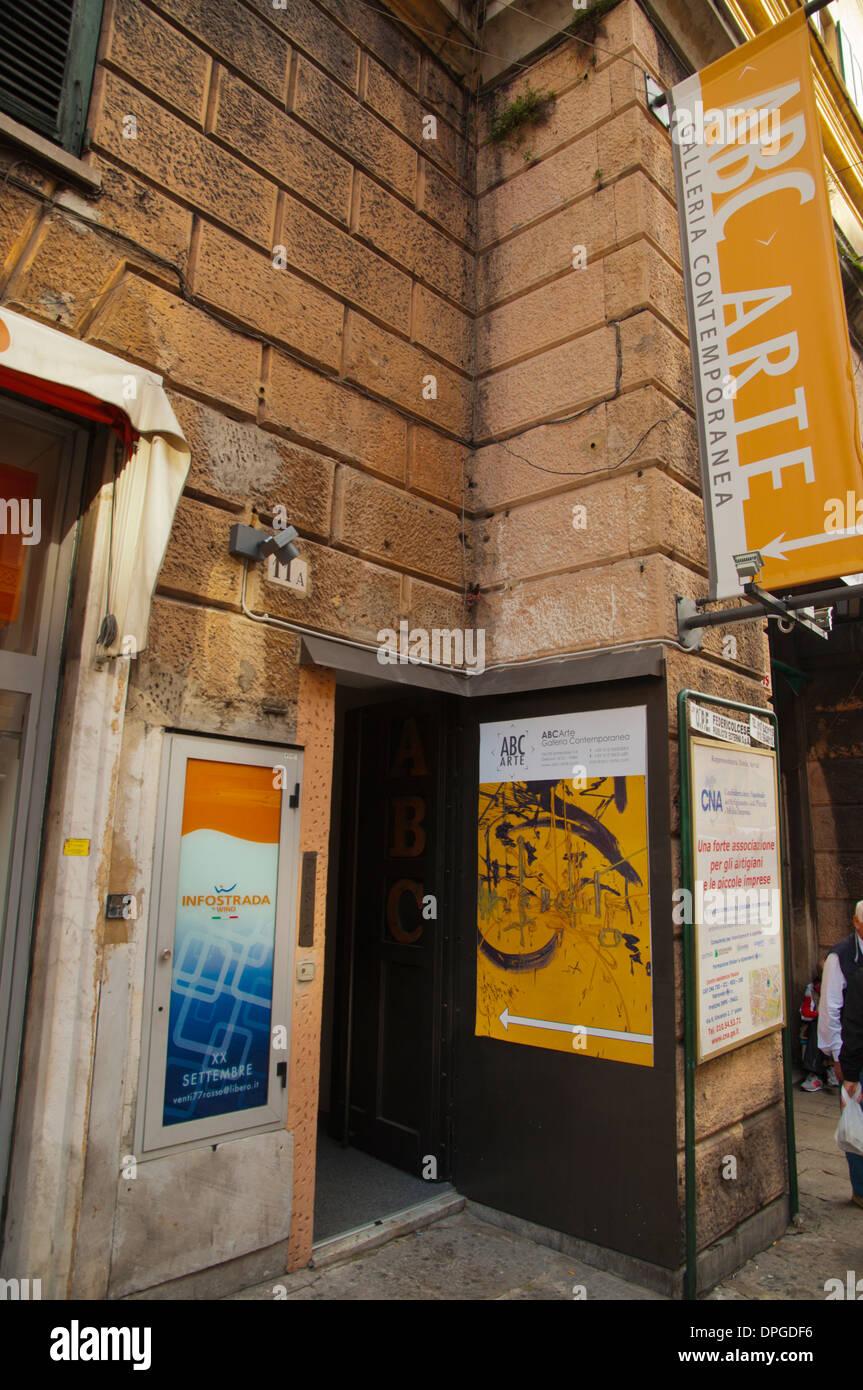ABC Arte museum of contemporary art exterior central Genoa Liguria region Italy Europe - Stock Image
