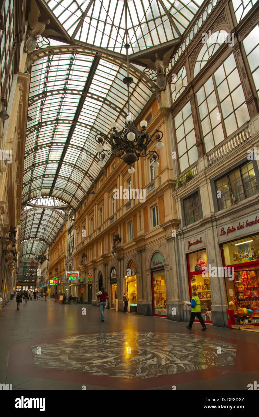 Galleria Mazzini shopping arcade Genoa Liguria region Italy Europe - Stock Image