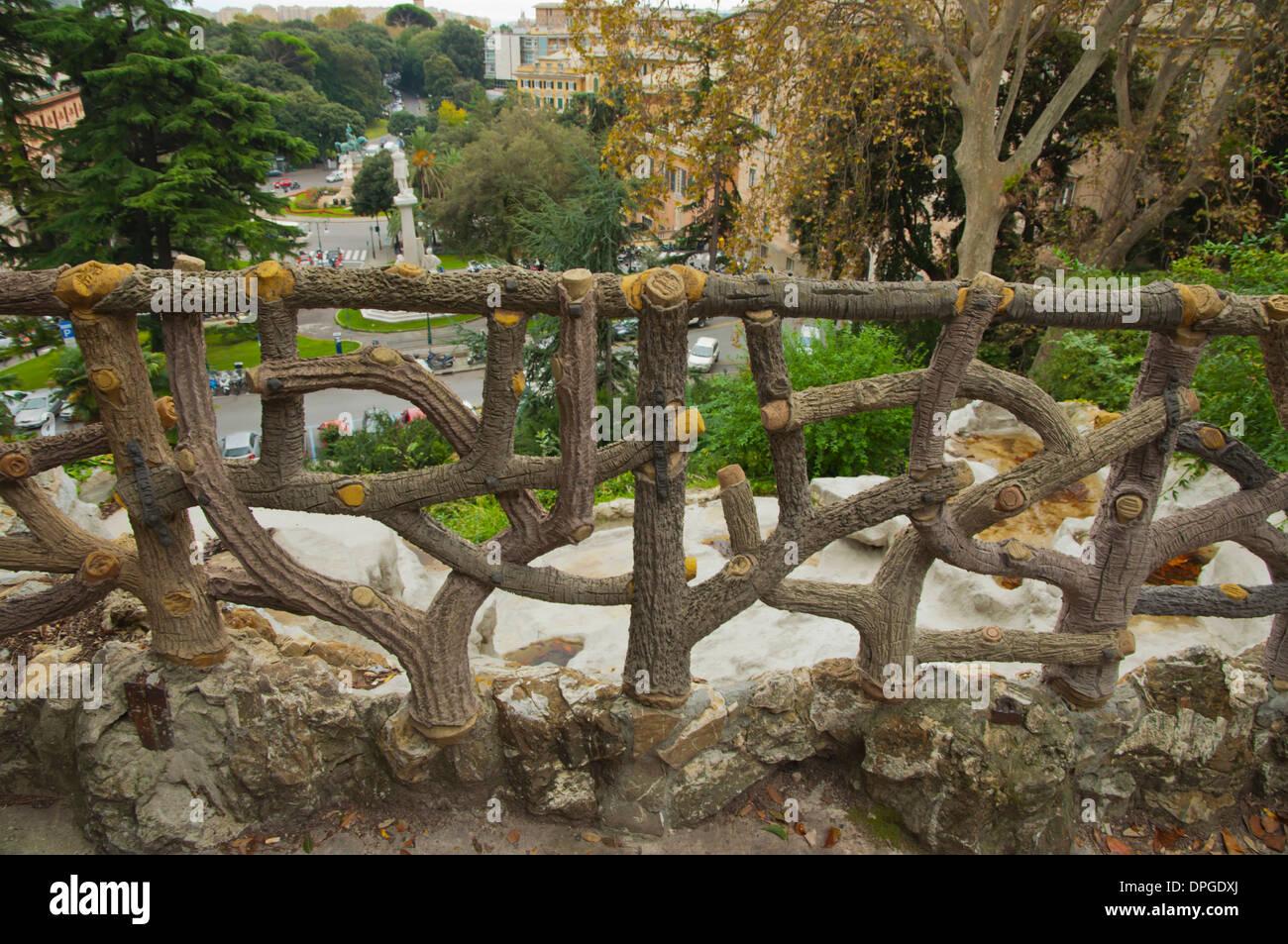 Villetta di Negro park central Genoa Liguria region Italy Europe - Stock Image