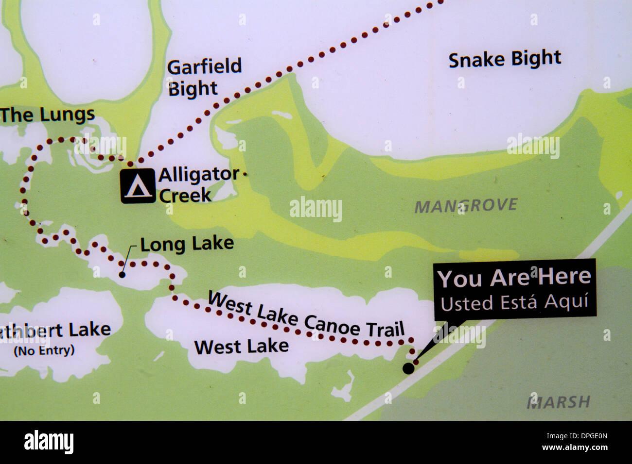 Everglades National Park Florida Map Stock Photos Everglades